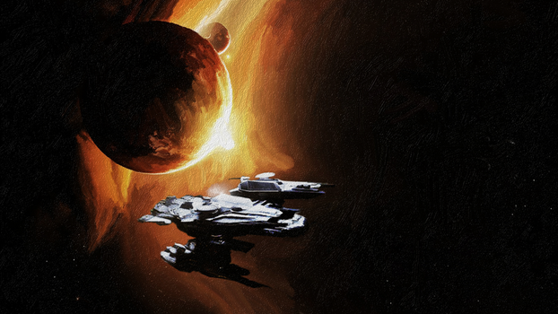 Star Citizen Painting by Vkaolin