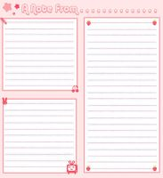 Pink Note Paper by zaahn