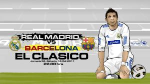 El Clasico Barcelona vs Madrid by akyanyme