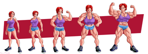 Commission female Shepard muscle growth by NeroScottKennedy