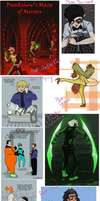 Homestuck scribbles and Phanniemay pt 1 by Sarapsys