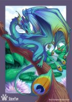 Peacock dragon by ShinePawArt