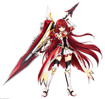 Elsword HQ render of Elesis as Grand Master by OneExisting