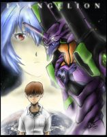 EVANGELION colors by shawnr22