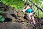 Lady Croft exploring danger zone by SCARLET-COSPLAY