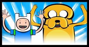 Finn and Jake by Mirraine
