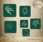 Fabric Nature Tags by shelldevil