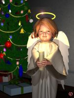 Christmas angel by Chronophontes