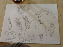 Adventure Time Sketching by gPrincessofDarknessf