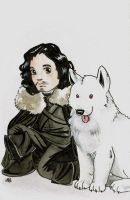 Game of Thrones Jon Snow by AmberStoneArt
