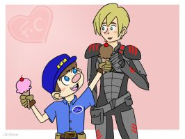 Request: Felix and Calhoun by drefeno