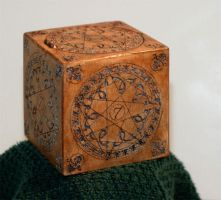 Closed Carved Circus Box by TimBakerFX
