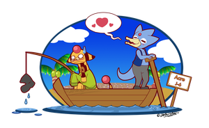 PKMNC - Awkward Boat Ride by TamarinFrog