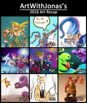 2016 Art Recap by ShadowSpyProductions