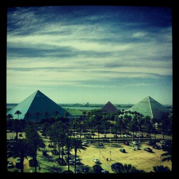 The Pyramids of Moody Gardens by ErinM2000