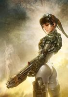 Female Soldier by Amat3urNov3lWrit3r