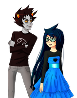 Karkat and Jade by VenomousJello