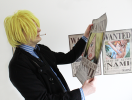 Sanji does not approve the wanted poster by elfeni