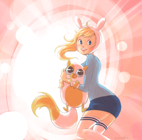 Fionna with Cake by sillyapple