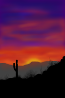 Desert Sunset by naca0012