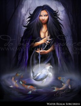Water Ream Sorceress by MysticMoonMedia