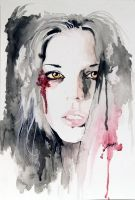 Watercolor Sketch - Alexandra by Wreckluse