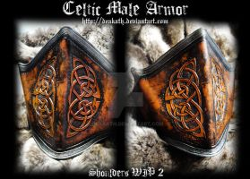Celtic Male Armor : Shoulders WIP 2 by Deakath