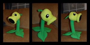 Pea Shooter Plushie by penguinluv4ever