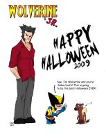 Wolverine and Jr Halloween by Andrew-ak-47