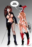 Typhoid Mary VS Harley Quinn by MassimoGuidi