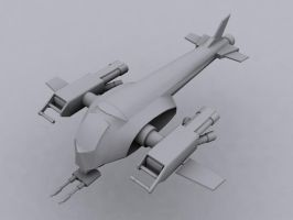 Render of space ship by DanGray