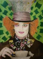 Mad Hatter drawing by AllanDavisArt