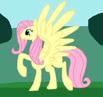 Adult Fluttershy by ZergRex