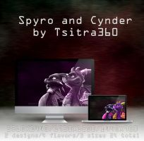 Spyro and Cynder Wallpaper by Tsitra360