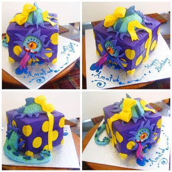 Monster Box cake by Cakerific