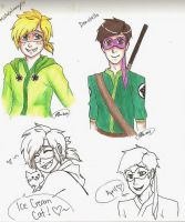 Michelangelo and Donatello humanized -TMNT by MESS-Anime-Artist
