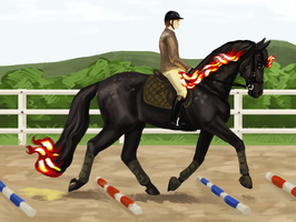 Elsiwen Jumping Training - Trotting Poles by Memuii