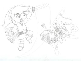 Link hates the X-Box by HoratioGiovanni