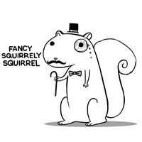 Fancy Squirrely Squirrel by arseniic
