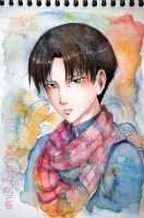 Levi with watercolor by deicus4ever