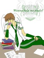 Wanna help me study? by FlirtingWithInsanity