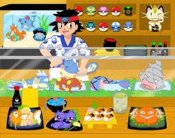 Pokemon Sushi Bar by Rosewine