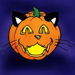 Jack-O-Lantern - Kitty by bar1scorpio