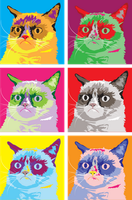 Grumpy Warhol Cat by talon