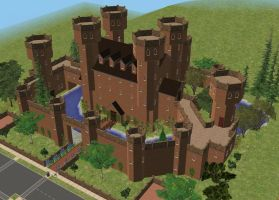 Sims 2 Castle for the 75.000 views by RamboRocky