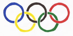 Hand-drawn flag of the Olympic Movement by cool1097
