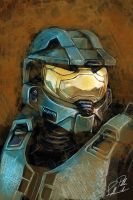 Portrait of Master Chief by asiantuntija