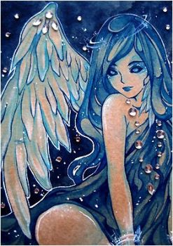 ACEO Snow Angel by PaminaArtistry