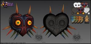 Majora's Mask 3D Model by Verde13