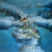Little girl and bears by Kaikaikiki